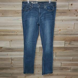 Madewell | Dark Wash Rail Straight Jeans 31 x 32